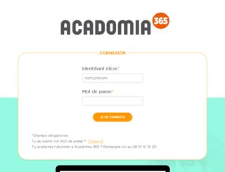 reseau-social.acadomia365.fr screenshot