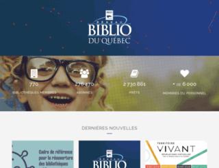 reseaubiblioduquebec.qc.ca screenshot