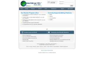 reseller.netearthone.com screenshot