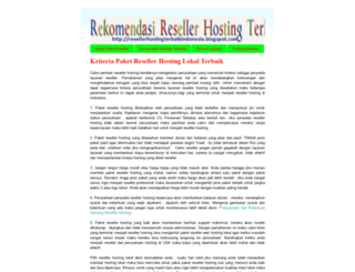 resellerhostingterbaikindonesia.blogspot.com screenshot