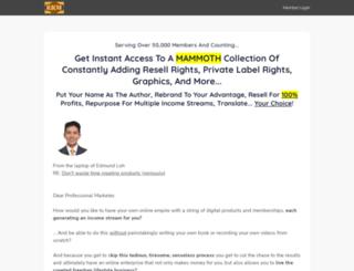 resellrightsmastery.com screenshot