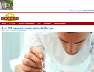 reservamesa.travel screenshot