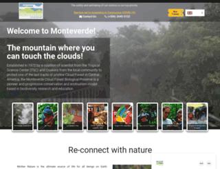 reservamonteverde.com screenshot