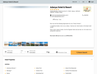 reservation.adenyahotels.com.tr screenshot