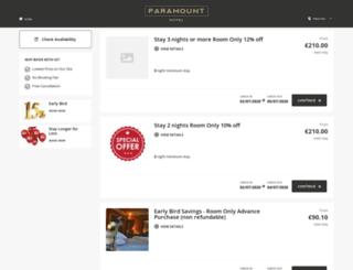 reservation.paramounthotel.ie screenshot