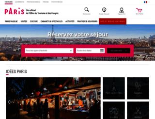 reservation.parisinfo.com screenshot