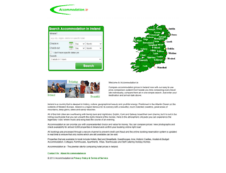 reservations.accommodation.ie screenshot