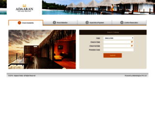 reservations.adaaran.com screenshot