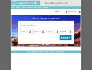 reservations.concerthotels.com screenshot