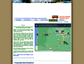 reservations.lanecounty.org screenshot