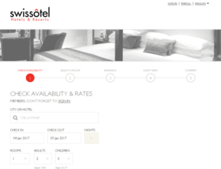 reservations.swissotel.com screenshot