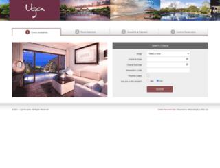 reservations.ugaescapes.com screenshot