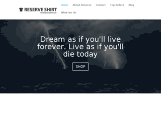 reserveshirt.com screenshot