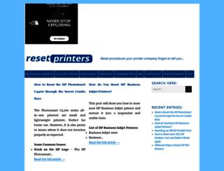 resetprinters.com screenshot