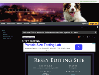 resey-editing-site.wikifoundry.com screenshot
