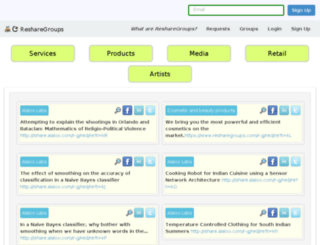 resharegroups.com screenshot