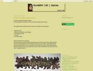 reshmi-on-art.blogspot.com screenshot