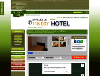 residence-citea-besancon.federal-hotel.com screenshot