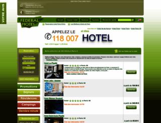 residence-cosys-cadet-paris.federal-hotel.com screenshot