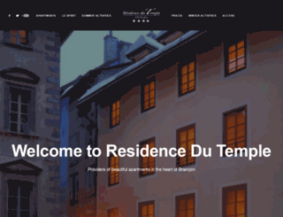residencedutemple.com screenshot