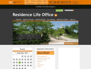 residencelife.buffalostate.edu screenshot