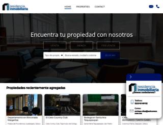 residenciainmobiliaria.com screenshot