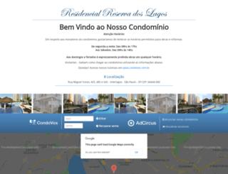 residencialreservadoslagos.com.br screenshot