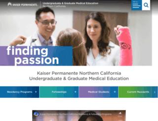 residency-ncal.kaiserpermanente.org screenshot