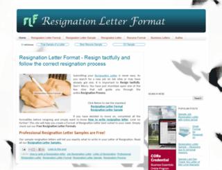 resignationletterformat.in screenshot