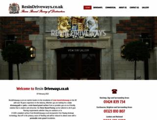 resindriveways.co.uk screenshot