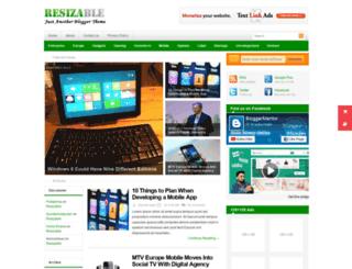 resizable-bloggertheme9.blogspot.in screenshot