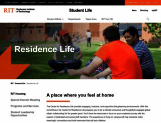 reslife.rit.edu screenshot
