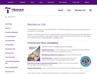 reslife.truman.edu screenshot