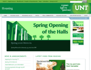 reslife.unt.edu screenshot