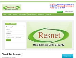 resnetindia.in screenshot