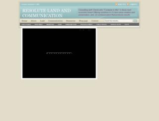 resoluteland.com screenshot