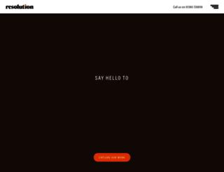 resolutiondesign.co.uk screenshot