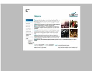 resolveltd.co.uk screenshot
