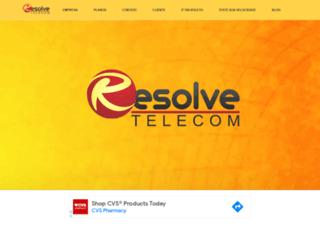 resolvetelecom.net.br screenshot