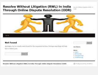 resolvewithoutlitigation.in screenshot