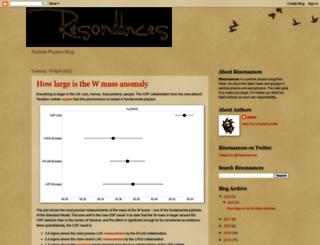 resonaances.blogspot.ch screenshot