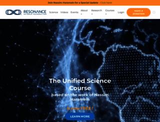 resonance.is screenshot