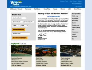 resortvacationstogo.com screenshot