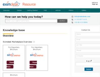 resource.eximdesk.com screenshot