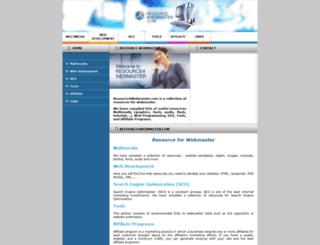 resource4webmaster.com screenshot