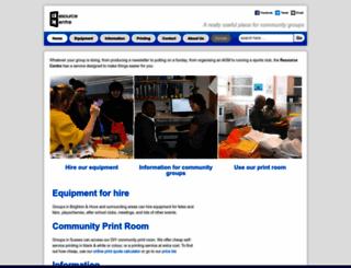 resourcecentre.org.uk screenshot