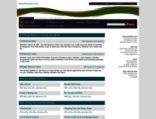 resourceindex.com screenshot