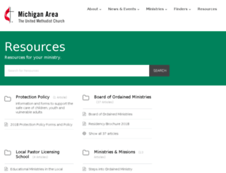 resources.michiganumc.org screenshot
