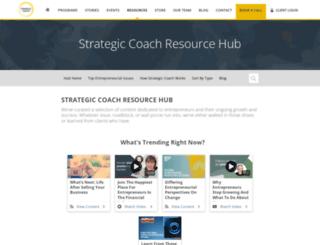 resources.strategiccoach.com screenshot