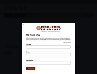 resourcesrisingstars.com.au screenshot